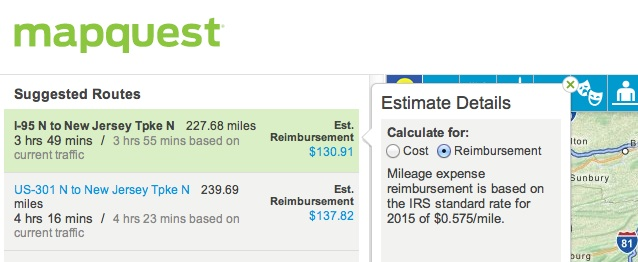 mapquest tax rate copy