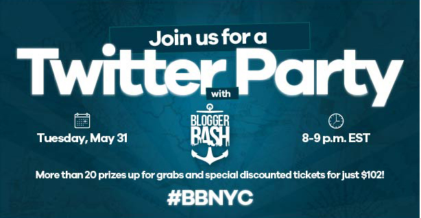 Blogger Bash Twitter Party: May 31!