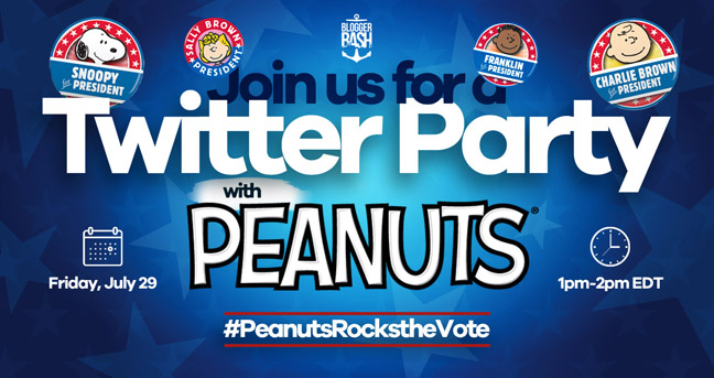Peanuts Rock the Vote Twitter Party: July 29!
